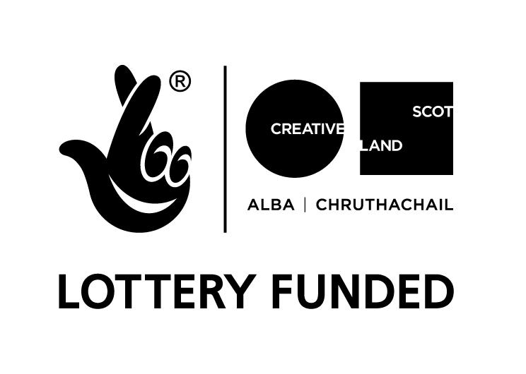 Lottery Funded Creative Scotland logo